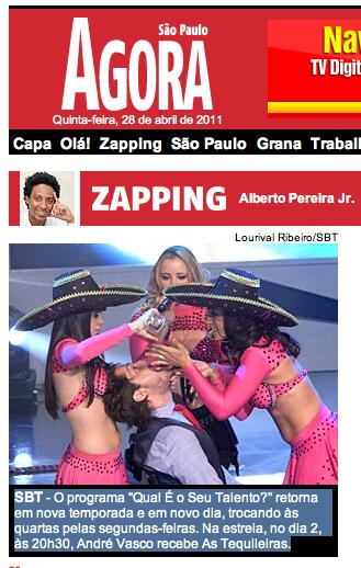 Jornal Agora SP – Volta QST 28/04/11